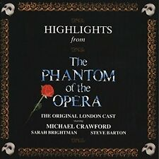 Phantom of the Opera (1987) Highlights:Sarah Brightman, Michael Crawford.. [CD]