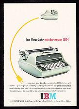 3w2013/ Alte Reklame von 1960 - Schreibmaschinen von IBM