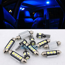 Blue 17pcs Lights SMD LED 12V Canbus Interior kit For Bmw E90 06-12 Sedan