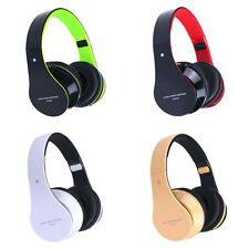 Handsfree Headset Foldable Wireless Bluetooth Stereo Headphones Mic For iPhone