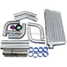 "CXRacing UNIVERSAL FRONT MOUNT TURBO INTERCOOLER + 3"" PIPING + BOV KIT"