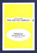"""John Neville """"OTHELLO"""" Richard Burton / John Wood 1956 Old Vic London Program"""