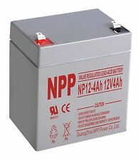NPP 12V 4 Amp 12 Volt 4Ah Alarm Backup AGM Sealed Lead Acid Battery Terminal F1
