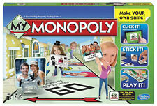 Hasbro Make Your Own Monopoly Board Game Pictures Names NEW Xmas Fun