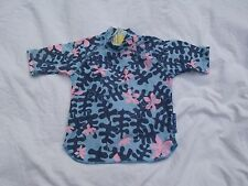Girls O'NEILL Blue/Pink Pattern UV PROTECTION Short Sleeve Top size 3-4yrs New!