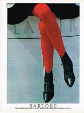 PUBLICITE ADVERTISING 025  1986  SARTORE  chaussures botillons bottines femme