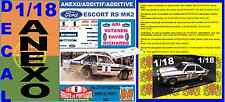 ANEXO DECAL 1/18 FORD ESCORT RS 1800 MK II ROTHMANS ARI VATANEN R.PORTUGAL (01)