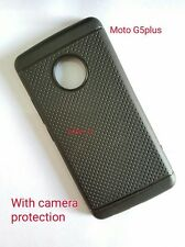$ Black DOTTED Soft Silicon Back Cover Case For Motorola Moto G5 Plus $