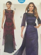 Burda Sewing Pattern 6866 Misses Special Occassion Evening Dress Size 10-22 New