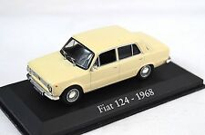 FIAT 124 1968 LIGHT BEIGE 1:43 MAGBA12 BLISTER PACK