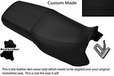 BLACK STITCH CUSTOM FITS CAGIVA RIVER 500 600 95-02 DUAL LEATHER SEAT COVER