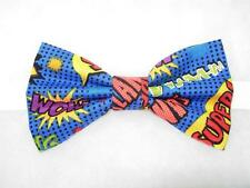 (1) PRE-TIED BOW TIE - COMIC BOOK ACTION WORDS - POW! WHAMM! SLAM! ZOOM! SUPER!
