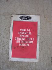 1990 1/2 Ford Essential Special Service Tools Manual Escort Tracer Auto Tool  T