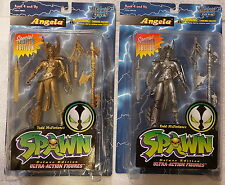Todd Toys McFarlane Spawn Angela Gold and Pewter (Silver)  lot