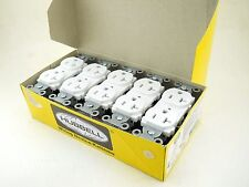 New!! Box of TEN White Hubbell NEMA 5-20R Outlet Receptacles 20A 125V CR20WHI