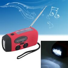 Emergency Hand Crank Generator Solar AM/FM/WB Radio Flashlight Charger JL