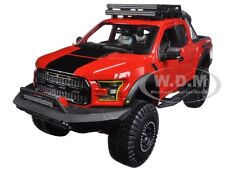 2017 FORD F-150 RAPTOR RED OFF ROAD KINGS 1/24 DIECAST CAR MODEL BY MAISTO 32521