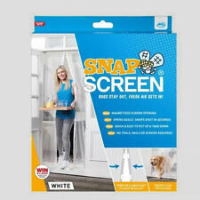 JML Snap Screen White Colour (W100cm x H210cm)