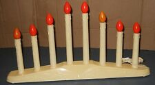 CHRISTMAS HOLIDAY WINDOW 8 CANDLE LIGHTS CANDELABRA ELECTRIC VRIOUS COLOR BULBS