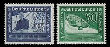 1938 GERMANY AIR POST FERDINAND VON  ZEPPELIN AIRSHIP  SCOTT  C59 - C60