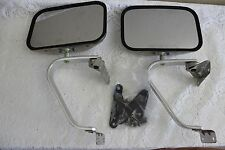 1 PAIR DELBAR STAINLESS STEEL SWING LOCK SIDE VIEW MIRRORS, 1988, NOS