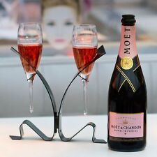 MOET CHANDON CHAMPAGNE UNFURL  THE TIE  LOVERS GLASSES NEW STYLE NO BOTTLE INC