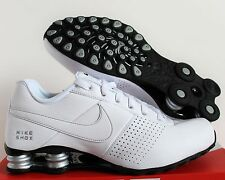 Nike Men Shox Deliver White-Metallic Silver-Black SZ 10 [317547-109]