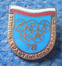 WINTER POLAND SPARTAKIADE YOUTH GAMES OLYMPIC 1978 ENAMEL PIN BADGE