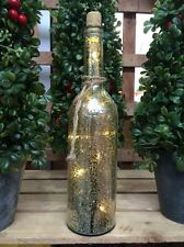 Champagne Mercury Glass Bottle of Lights Vintage Christmas Wedding Decoration