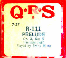 QRS Instrumental Rachmaninoff PRELUDE Op. 23 No. 5 Frank Milne Player Piano Roll
