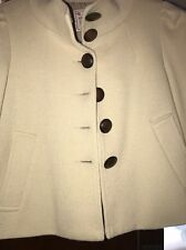 NANETTE LEPORE cotton puff/bubble sleeve Cropped blazer jacket M