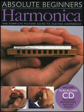 Absolute Beginners Harmonica Music Book/CD Learn How to Play Beginner Method