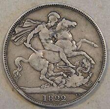 Great Britain 1822 Crown VF Secundo Edge Some Minor Rim Bumps