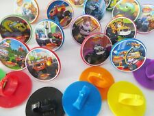 12 Blaze Monster Machines Truck cupcake Rings Toppers - birthday party favor