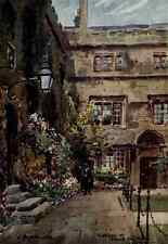 A4 Photo Matthison William 1853 1926 Oxford 1905 Corner of Jesus College Quadran