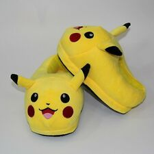 Pikachu Cute Kids Plush Home Anime Pokemon Winter Slippers Indoor Shoes 20cm/8''