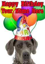 Great Dane DOG Happy Birthday PID742 A5 Personalised Greeting Card PARTY