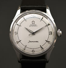 1955 OMEGA Bumper AUTOMATIC 354 17J SWISS MEN STAINLESS STEEL WATCH