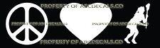 PEACE LOVE LACROSSE FIELD HOCKEY GIRL Vinyl Wall Sticker Car Bumper Window Decal