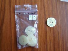 6 x 15mm CREAM/IVORY  BUTTONS  new    (ref 10)