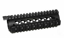"223 Carbine Length 6.7"" Handguard Quad Rail -w/ Bridge rail- Black"