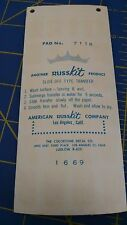 Russkit 7116 Number Sheet White Bold Decals from Mid America Naperville