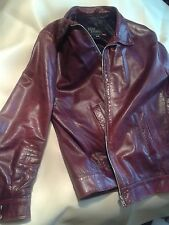 mens boutique vintage leather jacket - made in England