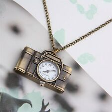 Vintage Cartoon Camera Sweater Chain Watch Pendant Necklace Korean Style FY