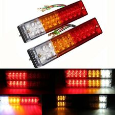 2 Pack 20 LED Car Truck Trailer Tail Lights Turn Signal Reverse Brake Rear Lamp