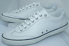 Zegna Men's Shoes White Sport Detroit Sneakers Size 11.5 Tennis Leather NIB