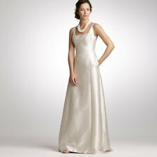 J Crew Bridal Collection  Estate Wedding Gown Dress Silk-Cotton Natural 2 $1500