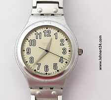 Swatch Irony Nightflight YGS1000 Aluminium Armband mit neuer Batterie ! .