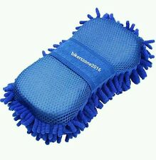 Car Accessories Blue Microfiber Sponge Cloth Washing Dashboard Cleaning Glove
