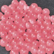 mercerie lot de 5 petits boutons boules rose 10mm button
